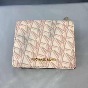 Michael Kors logo coated leather bi-fold wallet